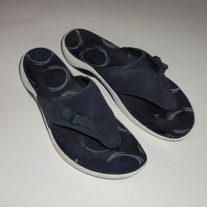 Merrell blue Gardena  thong blue slides 8 39